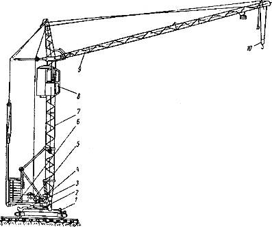 Башенный кран КБ-16: