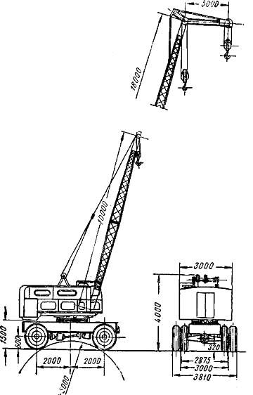 Пневмоколесный кран К-106