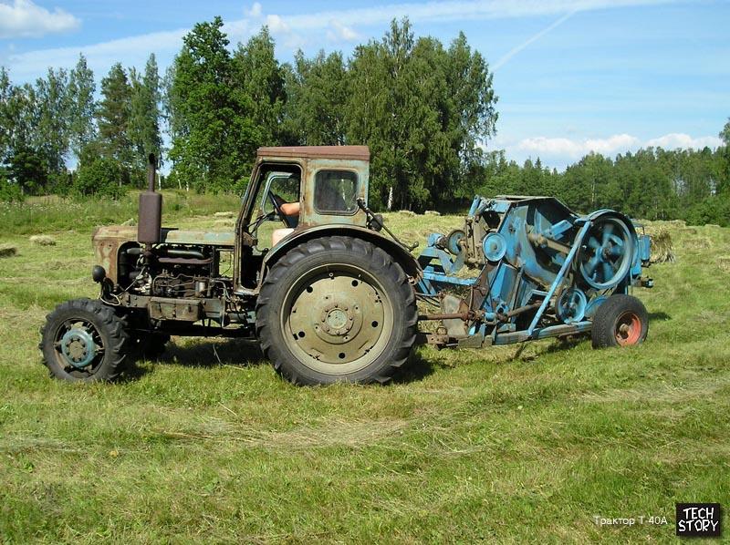 Трактор Т-40А с прицепной с/х машиной.  Фотографии сделаны в Эстонии Сильвером Куйком.